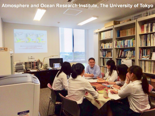 to Atmosphere and Ocean Research Institute, The University of Tokyo